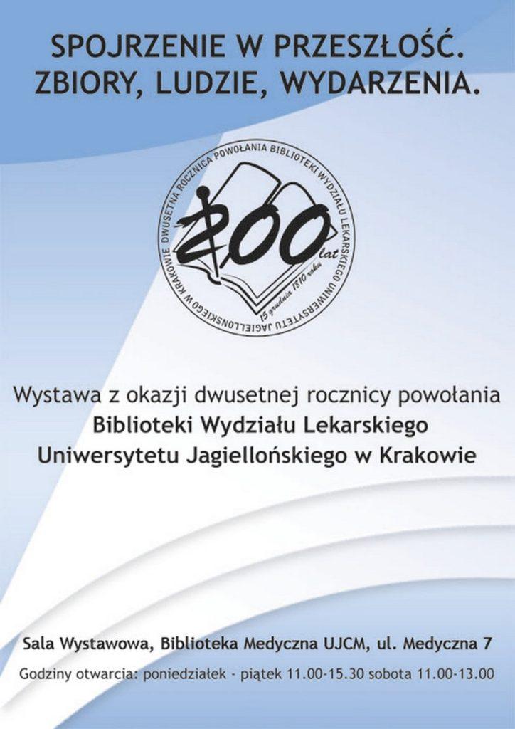 Plakat zokazji dwusetnej rocznicy Biblioteki